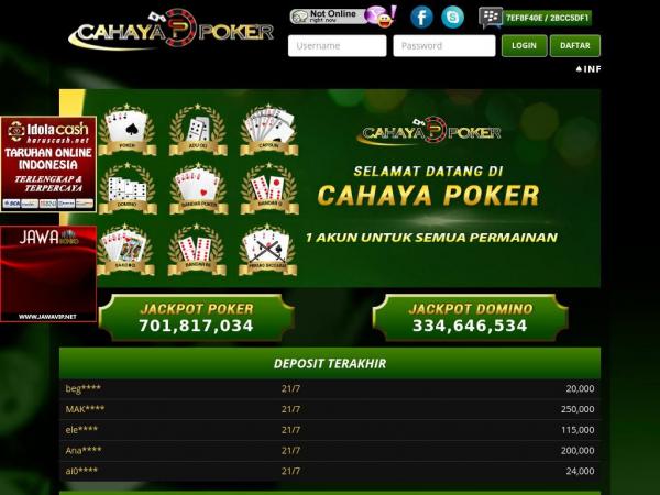 Cahayapoker.com Agen Poker Online Bandar Kiu Terpercaya ...